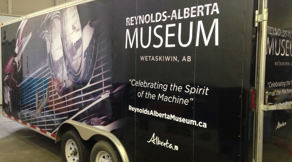 TRAILER WRAP FOR REYNOLDS ALBERTA MUSEUM